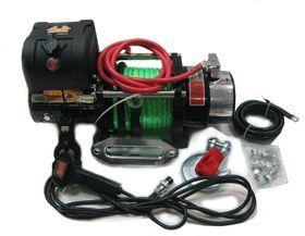 """Лебедка автомобильная электрическая """"4х4"""" SNC9.0WXS с узким барабаном и синтетическим тросом"""