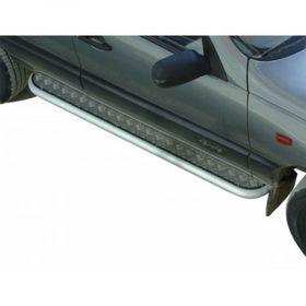 """Пороги """"Труба"""" с алюминиевым листом  Нива Шевроле 2123 RS"""