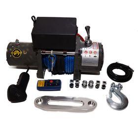 Лебедка автомобильная электрическая RUNNINGMAN 6000 12V с синтетическим тросом