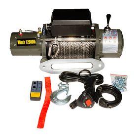 Автомобильная лебедка электрическая Electric Winch 12000 12V с синтетическим тросом
